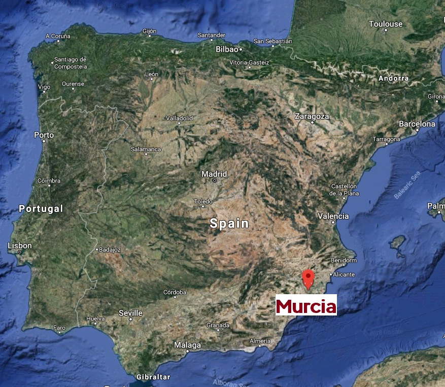 Marcia on the map of Spain