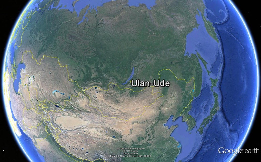 The location of Ulan-Ude city