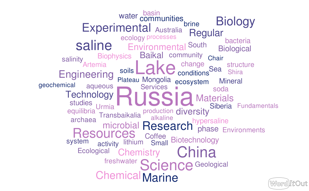 WordCloud for the scientific program of the conference